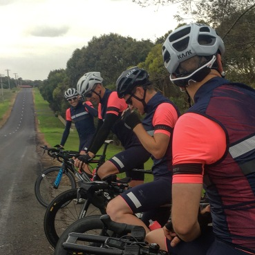 8.30am As we roll out of house at Warnambool